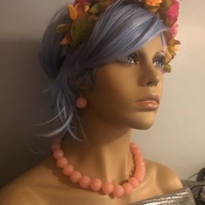 Jewelry - Pink sparkle bubblegum necklace earrings bracelet